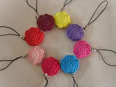 Ciondoli fiorellini (Armonie di filo) Tags: flowers phone crochet strap amigurumi filo ciondoli fiorellini uncinetto cotone