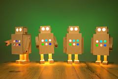 Robot lamps (michielmos) Tags: wood light lamp design living robot mechanical handmade interior lifestyle plywood homemademarket