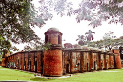 shat gombuj moshjid (Sachchal Islam) Tags: old heritage architecture canon landscape photography muslim islam perspective culture mosque bangladesh 18135 bagerhat 550d bupc