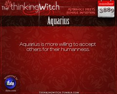 """""""The Thinking Witch"""" Aquarius Astrology Fact for Wednesday September 4th (iFate.com) Tags: aquarius horoscope astrology ifate"""