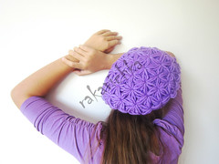 Crocheted  Pukanka Hat Purple Violet Lilac (dodo_fit) Tags: wool girl hat lady women knitting purple crochet violet lilac vanilla knitted crocheted pure fallwinter ecru merinos whiteoff 20132014