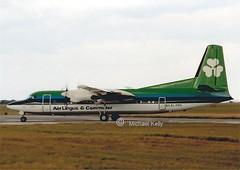 Aer Lingus      Fokker 50          EI-FKD (Flame1958) Tags: print scan dub aerlingus dublinairport f50 fokker fokker50 eidw