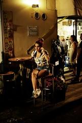 takeAway (niK10d) Tags: girl table waiting sitting mina takeaway pentaxk10d 31mmf18limited