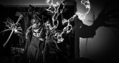 scarecrow creeper -lightning effect- (Anonymous_Trespasser) Tags: halloween dark scary sinister scarecrow creepy spooky scarecrows burlap