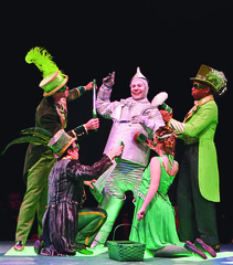 Shannon Stoeke as Tinman and ensemble in The Wizard of Oz produced by Music Circus at the Wells Fargo Pavilion June 21 -30, 2013. Photo by Charr Crail.