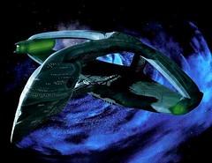 Romulan Warbird near the Bajoran Wormhole (Guardian Screen Images) Tags: show fiction trek star tv war ship hole near space nine deep battle science class empire scifi imperial series spaceship wormhole battleship worm cruiser episode warbird warship starship romulan battlecruiser bajoran irw dderidex
