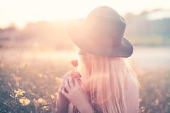 60secondframes Cornelia (Maegondo) Tags: sunset portrait people sun nature colors girl field hat backlight canon vintage munich mnchen bayern bavaria eos haze dof bokeh 85mm depthoffield poppy blonde 18 ingolstadt 5dmark2