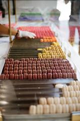 colorful macaroons (victoriayiyau) Tags: film 35mm dessert losangeles kodak olympus portra om1 dtla olympusom1 macaroons portra400 bottegalouie portra400pushedto800