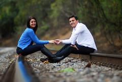 Nick and Siera (konstantinekohilas) Tags: people engagement couple photos maryland rails railroads