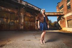 Abbey-Blue-1 (natecroft) Tags: portrait urban woman girl fashion canon hair outside industrial dress makeup location elinchrom strobist 5dmkii