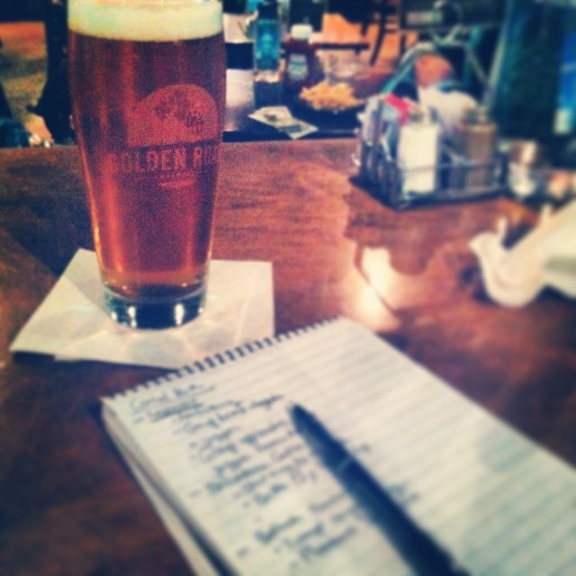 Drinking drinks and taking notes. See you later LA #goldenroadIPA #LAX #gladstones #redeye