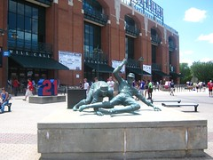 "Statue in Front of Turner Field • <a style=""font-size:0.8em;"" href=""http://www.flickr.com/photos/109120354@N07/11047165555/"" target=""_blank"">View on Flickr</a>"