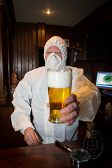 Forensic Exam of Full Headed Pint (107) (PHH Sykes) Tags: 3 art roy monkey town pub inn gallery boom bbc anthony sykes csi struggling landlord phh boomtown bbc3 thurgoland mmant youel