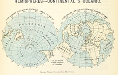 Image taken from page 32 of '[A class book of physical geography.]' (The British Library) Tags: world map medium split conical publicdomain hemispheres page32 vol0 bldigital mechanicalcurator pubplacelondon date1882 hugheswilliamfrgs sysnum001760256 imagesfrombook001760256 imagesfromvolume0017602560