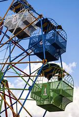 ferris wheel 1 copy (Yasser Chalid) Tags: park blue sky cloud green wheel indonesia fun one asia ferris number