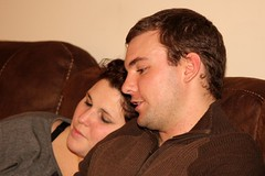 0928 (Marbeck53) Tags: portrait people woman man male female canon kyle liberty eos couple faces candid profile husband brooke sofa wife oh persons humans 60d marbeck53 markriesenbeck