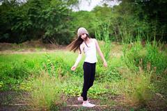 (Isai Alvarado) Tags: portrait sky cinema blur cute green film girl beauty grass fashion hair movie landscape fun 50mm daylight kid nikon focus dof arms alicia bokeh alice cine converse cinematic softlight d800 leggins 50mm14g