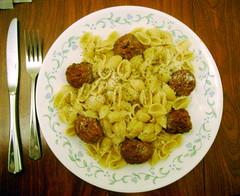 Who needs sauce? (splattergraphics) Tags: food shells pasta meal meatballs