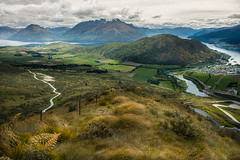 Landscape of New Zealand (Chaiwat lee www.facebook.com/Mondayfoto) Tags: road park new travel blue summer sky panorama cloud mountain lake snow mountains alps green tourism nature water beautiful field clouds landscape island scenery mt view sheep top south hill scenic cook meadow peak sunny landmark lakeside glacier mount southern zealand alpine national valley nz destination queenstown alp aoraki aspiring