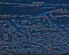 skyrocketing rents = diving artists (pbo31) Tags: sanfrancisco california blue color night nikon rooftops over january bayarea bluehour mtdavidson 2014 d700