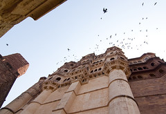 Mehrangarh Fort-13 (Tapas Biswas) Tags: travel sky india color colour art history outdoors artwork nikon day image artistic fort antique candid crafts indian creative picture culture craft architectural creation rajasthan memorials jodhpur historicalbuilding artisticphotography mehrangarh candidphotography d90 historicalplace mehrangarhfort indianculture abstractphotography nikond90 nikod90 nikond9o historicalarchitectureofindia mehrangarhfortrasajthan
