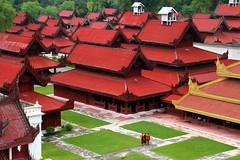 Burmese Royal Palace (Jeff Oftedahl) Tags: travel asia burma royal palace monks myanmar southeast mandalay