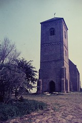 SPAARNWOUDE (NL) 1970 (streamer020nl) Tags: holland tower church haarlem tour bricks kirche slide dia scan 1970 nl turm kerk spaarnwoude baksteen ijpolder stompetoren haarlemmerliede