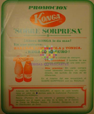 """Konga. """"Sobre sorpresa"""". Años 60"""