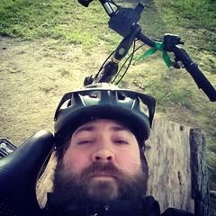 Crying but Fighting (JF Sebastian) Tags: park selfportrait tree bike sad helmet crying zaragoza tired squareformat stump jorgeferrergarcía nexus4 morethan100visits morethan250visits morethan500visits instagramapp uploaded:by=instagram filterxproii foursquare:venue=4c551eb9f5f3d13ac15b3afb