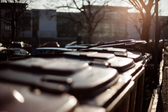 open (stephanmueller) Tags: street grau gelb waste braun tonne augsburg alltag mlltonne arbeitsweg wasteseries