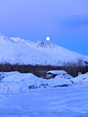 Moon over Valdez (The Cabin On The Road) Tags: mountains alaska glaciers chugach