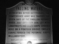 Night Pic Of Falling Waters Sign Civil War Era