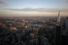 View from 39th Floor of Gherkin at Sunset (ptr.watts) Tags: city sunset london towerbridge hmsbelfast riverthames gherkin toweroflondon theshard