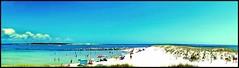 FUN DAY AT THE BEACH (photogtom43) Tags: panorama beach sand florida whitesand panamacitybeach beachgoers emeraldcoast floridastateparks quartzsand staandrewsstatepark nikoncoolpixaw110
