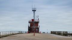 Coastguard Station (Number Johnny 5) Tags: lines tamron d750 nikon pier fences coastguard mundane boring angles railings mast deserted gorleston 2470mm banal norfolk building