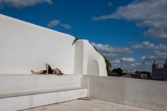 Sleepyhead (Leo Teles) Tags: asleep sleepyhead sky blue white lisbon portugal tired tiresome bench