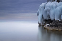 Frost wall (andrewpmorse) Tags: frost ice winter cold lake lakehuron landscape cliffs clouds longexposure brucepeninsula brucepeninsulanationalpark nationalparks parks water canon 6d 24105f4l leefilters leebigstopper lee06ndgradsoft icicles icicle ontario canada