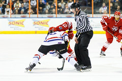 """Missouri Mavericks vs. Allen Americans, March 3, 2017, Silverstein Eye Centers Arena, Independence, Missouri.  Photo: John Howe / Howe Creative Photography • <a style=""""font-size:0.8em;"""" href=""""http://www.flickr.com/photos/134016632@N02/33117917132/"""" target=""""_blank"""">View on Flickr</a>"""