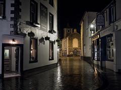 Rainy Night in Keswick (Jay-Aitch) Tags: rainy night keswick evening wet rain lake district cumbria uk panasonic gx8 lumix g 20f17 dog gun pub street road