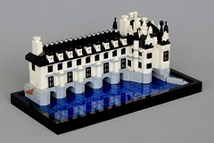 Chateau de Chenonceau (soccersnyderi) Tags: lego architecture marchitecture model replica chateau chenonceau castle french medieval manor moc creation