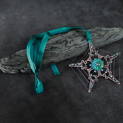"Necklace Magical Totem Pentacle: ""Star of the Spider"" (FaerieKat) Tags: star spider necklace handmade magic jewelry pentagram etsy pentacle pendant spiritguide medalion animaltotem"