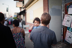 First Friday Baby (alexlopezimages) Tags: baby canon oakland photojournalism 35 firstfriday 2013
