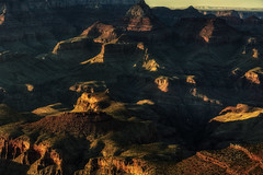 Amber (Russmosis) Tags: sunset nature landscape amber day clear peaks earthtones valleys grandcanyonnationalpark
