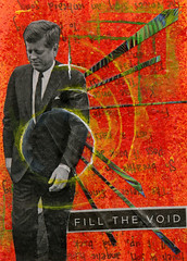 fill the void (PiccadillyPalare) Tags: red orange green collage painting circle square president jfk drip splatter johnfkennedy assassination
