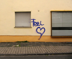heartbeat. (universaldilletant) Tags: love graffiti heart frankfurt feel herz liebe