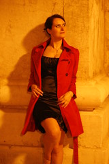Red jacket (@ntop@r) Tags: red portrait woman girl donna mujer rojo model chica retrato femme mulher modelo shooting rosso ritratto ragazza muchacha jeunefille garrota