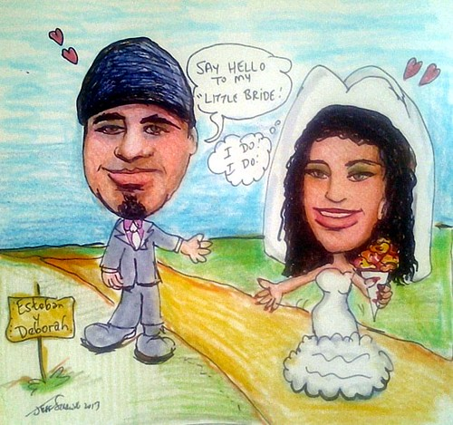 Engagement Party Gift Caricature