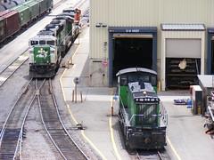 BNSF 3447 (cc8039) Tags: minnesota yard minneapolis trains bnsf sd60m sw1500 northtown c449w mp15