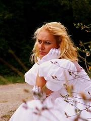 Waiting ... (Joa Chim) Tags: wedding model blond angry weddingdress hochzeit warten wartend hochzeitskleid