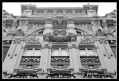 Simetra Floral. Gran Hotel. Cartagena (jarm - Cartagena) Tags: bw espaa blancoynegro architecture spain arquitectura bn artnouveau espagne cartagena modernismo modernista eclecticismo granhotel jarm victorbeltri tomsrico